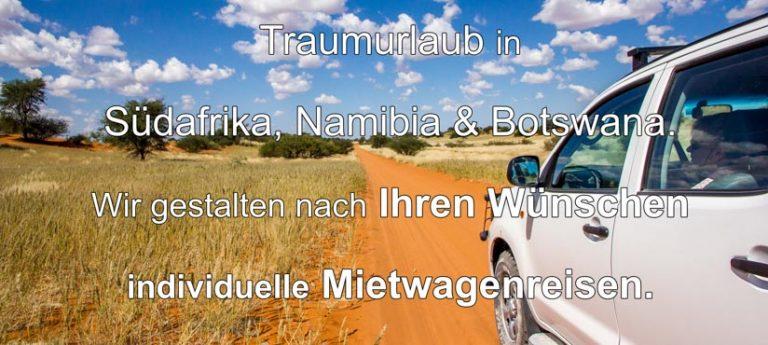 Afrika Erfahren, Südafrika, Botswana, Namibia Rundreise für Selbstfahrer