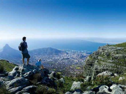 Afrika Erfahren, Südafrika Wanderreise Garden Route, Kapstadt, Tafelberg, Wanderer
