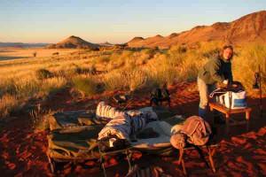 Afrika Erfahren, Namibia, Tok-Tokkie-Wanderung, Schlafen unter Sternenhimmel