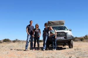 Afrika Erfahren, Namibia, Familie, Dachcamper
