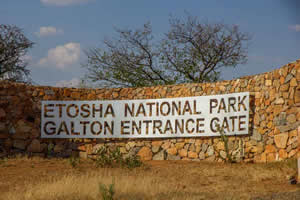 Afrika Erfahren, Namibia Rundreise Mietwagen, Etosha, Galton Gate