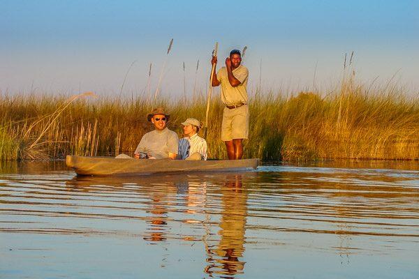Afrika Erfahren, Botswana, Mietwagenreise, Okavango Delta, Mokoro, Bootsausflug