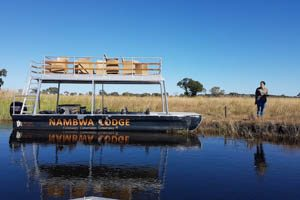 Afrika Erfahren, Namibia Rundreise Selbstfahrer Caprivi, Nambwa Lodge Boot