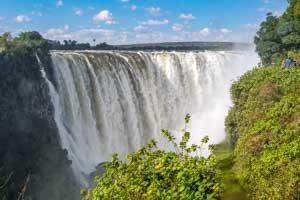 Afrika Erfahren, Botswana Rundreise Mietwagen, Victoria Falls, Main Falls