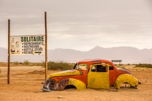 Afrika Erfahren, Namibia, Selbstfahrer, Autowrack in Solitaire