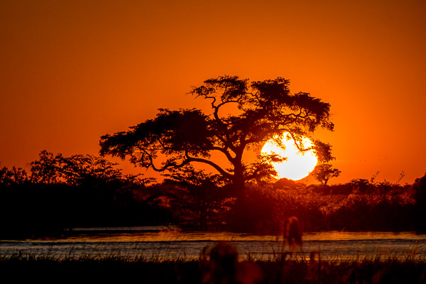 Afrika Erfahren, Botswana, Mietwagenreise, Sonnenuntergang am Chobe