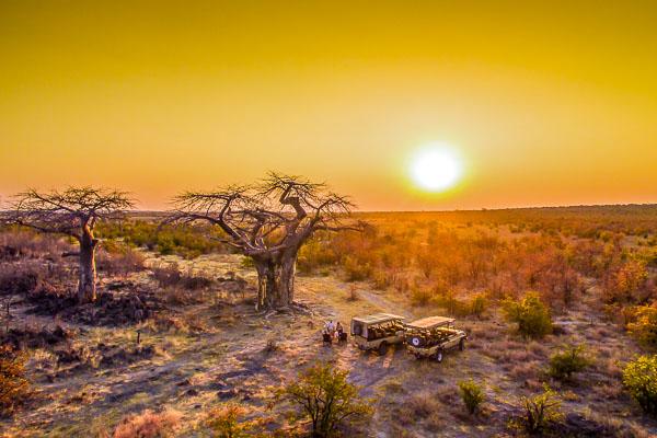 Afrika Erfahren, Botswana, Selbstfahrerreise, Sundowner bei Ghoha Hills