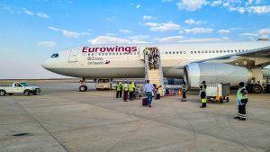 Mietwagen Namibia Corona, Flughafen Windhoek, Eurowings