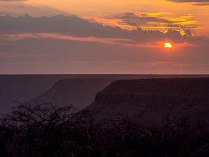 Namibia Rundreise Corona, Grootberg Lodge, Sonnenuntergang