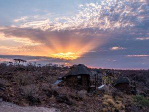 Namibia Rundreise Corona, Grootberg Lodge, Sonnenaufgang