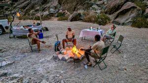 Namibia Rundreise Corona, Sesfontein, Hoanib, Sleepout, Lagerfeuer