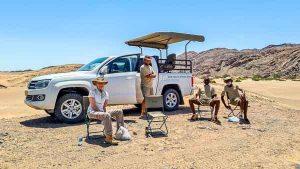 Namibia Rundreise Corona, Sesfontein, Hoanib, Sleepout, Lunchbreak