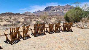 Namibia Rundreise Corona, Hohenstein Lodge, Terrasse, Afrika Erfahren