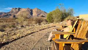 Namibia Rundreise Corona, Hohenstein Lodge, Terrasse