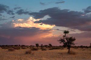 Namibia Rundreise Mietwagen, Corona, Red Dunes Lodge, Gewitter