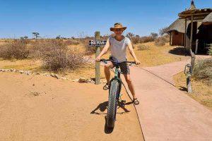 Namibia Rundreise Mietwagen Corona, Red Dunes Lodge, Fahrrad, Mountain Bike