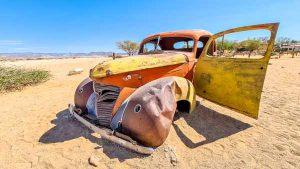 Namibia Mietwagen Rundreise Selbstfahrer, Corona, Solitaire, Autowrack