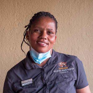 Namibia Rundreise Mietwagen Corona, Staff Portrait, Klein-Aus-Vista